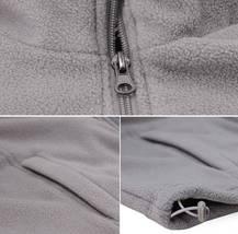 Men's Lightweight Warm Polar Fleece Jacket Full Zip-Up Collared Sweater Vest image 4