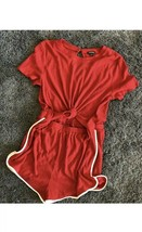 Wild Fable Red Romper Cropped Top Bare Shorts New NWT Soft - $18.38