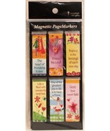 Beautiful Whimsical Magnetic Page Bookmarks Set of 6 Bible Verses Friend... - $8.34