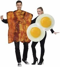 Bacon Fried Eggs Couples Costume Food Halloween Party FW119014 - $59.99