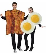 Bacon Fried Eggs Couples Costume Food Halloween Party FW119014 - £47.75 GBP