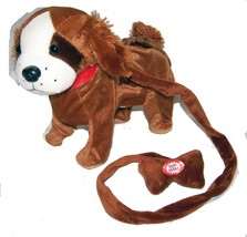 LARGE BROWN BEAGAL REMOTE CONTROL WALKING DOG WITH SOUND battery operate... - $18.95
