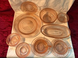 Vintage Queen Mary Pink Depression Glass LOT - $63.99