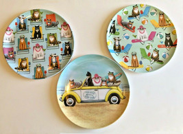 "Melamine Dinner 10"" Plates Cats at the Beach Set of 4 Choose Pattern VW ... - $28.89"