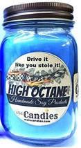 High Octane 16oz Country Jar Handmade Soy Candle - Resembles Racing Fuel - - $14.71