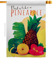 Party like Pineapple - Impressions Decorative House Flag H137472-BO - $36.97