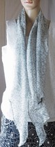 """Beautiful Gray Animal Print Scarf - Approximately 80"""" x 14"""" - Asymetrical - $10.50"""