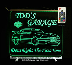Custom LED Mustange sign, Man cave Sign, Garage sign, Gift for Dad - $128.70+