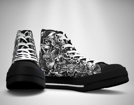 Satanic Tattoo  Canvas Sneakers Shoes - $49.99