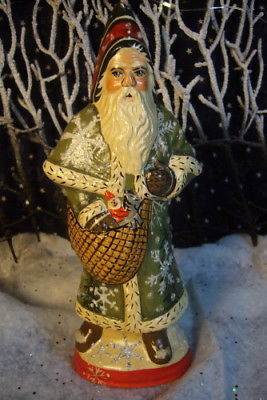Vaillancourt Folk Art Snowy Forest Father Christmas Signed by Judi Vaillancourt