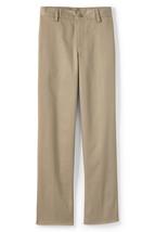 Lands End Uniform (Boys 20 Slim, 33 Inseam) Cotton Plain Front Chino Pan... - $12.99