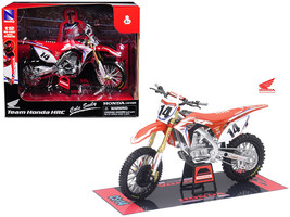 Honda Racing Team CRF450R Cole Seely #14 Motorcycle Model 1/12 by New Ray - $26.73