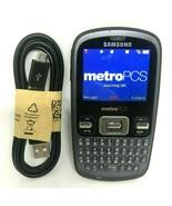 Samsung Freeform SCH-R350 Grey MetroPCS Cellular Phone Bundle W/ USB Cab... - $16.82