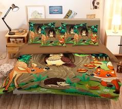 3D Cartoon Elk Owl 26 Bed Pillowcases Quilt Duvet Single Queen King US Summer - $102.84+