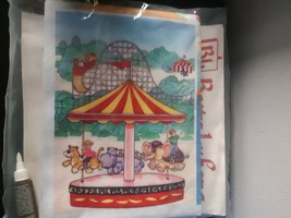 Betty Lukens Felt Book Ten Circus Craft Kit Vintage DIY - $39.55