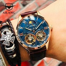AILANG 2019 latest design watch men's double flywheel automatic mechanical watch - $86.63 - $140.12