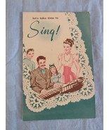 Let's Take Time to Sing Vintage Book Crowley's Milk Company 17 Pages - $22.81
