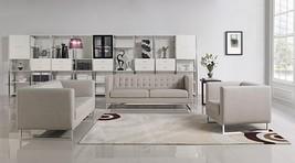 VIG Modern Divani Casa Dominic Grey Fabric Tufted Sofa Set 3Pcs - €1.621,70 EUR