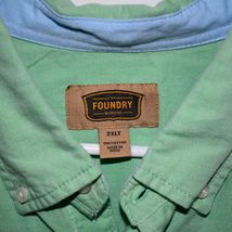 The Foundry Men's Mint Kelly Green Long Sleeve Button Down Shirt Size 2XLT image 3