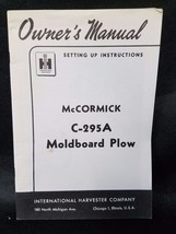 International Harvester Instructions Manual McCormick C-295A Moldboard Plow - $14.80