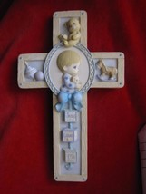 "1999 Vintage Precious Moments ""Jesus Loves Me"" Cross Wall Hanging - $7.66"