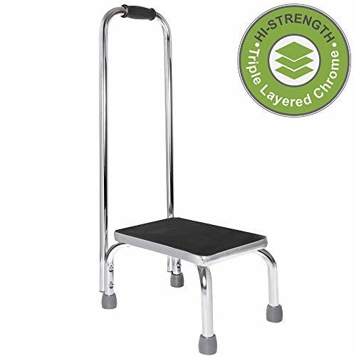 Vaunn Medical Foot Step Stool With Handle And Anti Skid