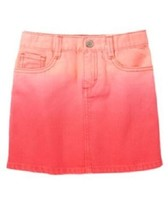 NWT Gymboree Desert Dreams 6 Ombre Rose Coral Pink Denim Mini Skirt Girls - £7.64 GBP