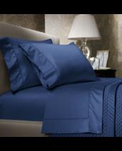 New Ralph Lauren Blue Royal Peacock King Pillowcases Pair Solid Sateen L... - $58.79