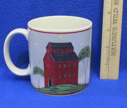 1998 Coffee Mug Cup Design by Warren Kimble Barns Red Painting Farm Shed - $10.88