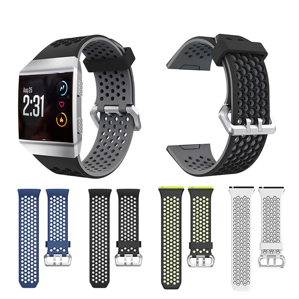 22mm Large Watch Band Silicone Strap Replacement for Fitbit Ionic Smart Watch