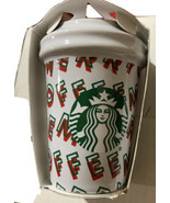 Starbucks Hot Cup Holiday Ornament New Merry Coffee - $22.76