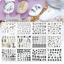 Water Transfer Sticker Black Nail Art Decal 12pcs Tattoo Sliders For Man... - $13.00