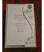 Wilson 40ct Wedding Print Your  Invitation Kit Elegant Swirls and Hearts... - $19.79