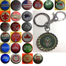US Army Coke Sprite Diet pepsi & more Soda beer cap Keychain