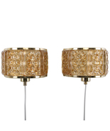 GALLALAMPET, pair of sconces by Vitrika, 1970s. Danish pair of brass wal... - $314.00