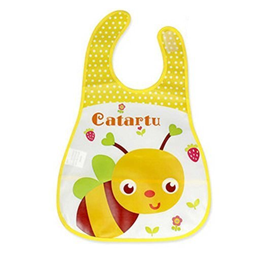 2 Pcs Pinafore For Baby,Cartoon Bee Showerproof Comfortable Baby Bib