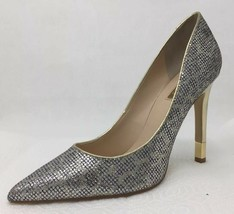 Guess BABBITTA-2 Metallic Silver Gold Sparkle Bling Shimmer Pumps Heels 8.5 NEW - $39.47