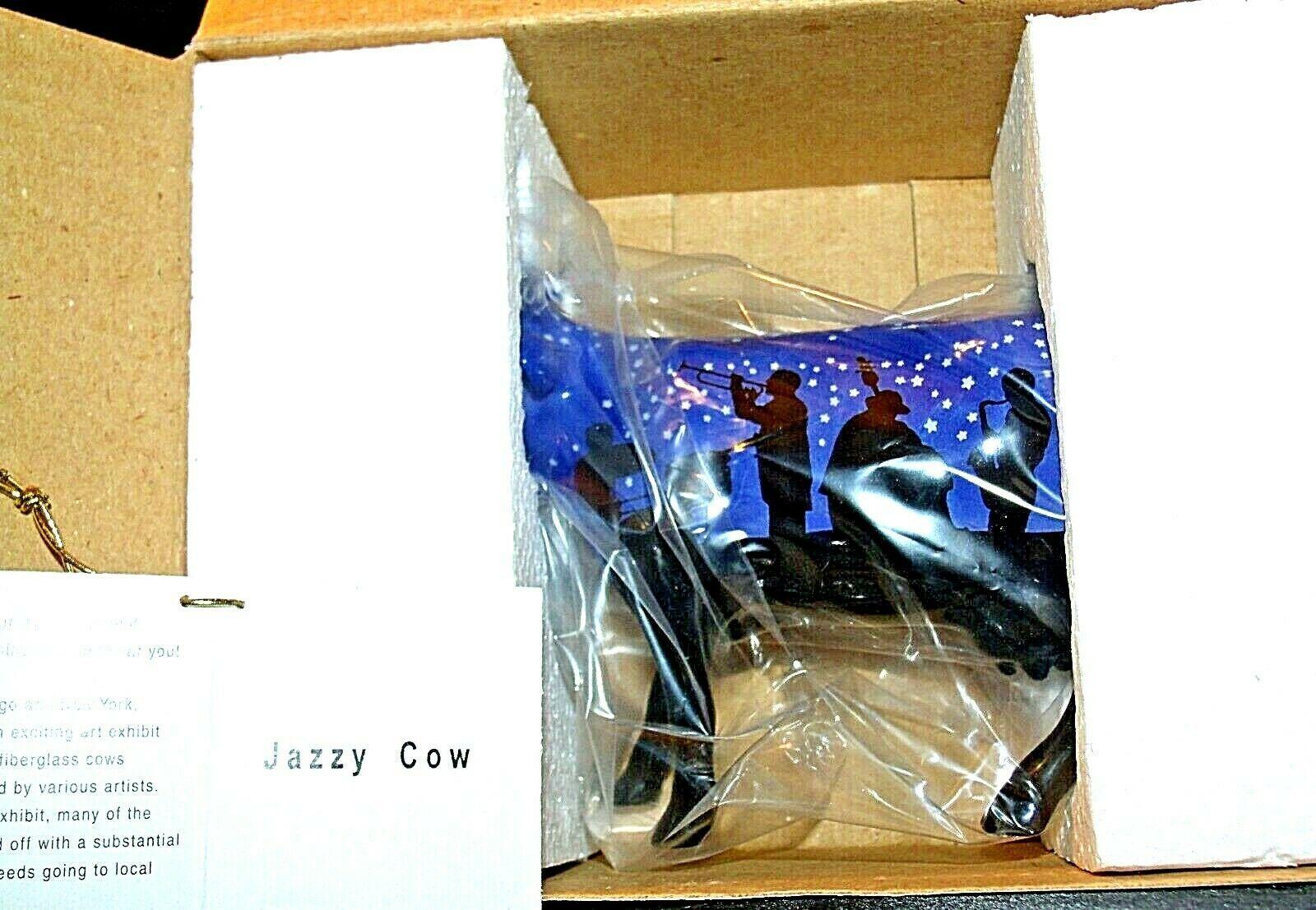 "CowParade ""Jazzy Cow"" # 9185 Westland Giftware AA-191870 Vintage Collectible"