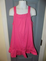 Hanna Andersson Pink Sleeveless Dress W/Ruffle at Bottom Size 110 Girl's... - $21.06