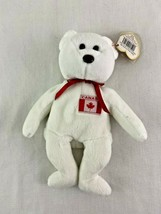 Ty Beanie Baby Maple White Canada Bear Plush 1996 - $19.79