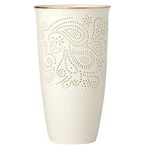 "Lenox Pierced Paisley Medium 10"" Vase, Ivory - $49.99"