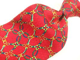 SINGAPORE TURF CLUB  Red CLASSIC Handmade Gem  Mens 100 SILK  Necktie  8... - $15.99