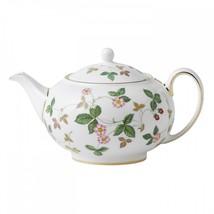Wedgwood Wild Strawberry Teapot 1.4 Pt Brand New Boxed #40015003 - $232.65