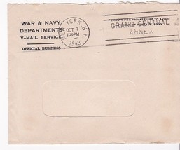 WWII V-MAIL APO 795 NEW YORK,NY 10/7/1943 HOLIDAY GREETINGS FROM THE MID... - $6.27