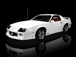 1991 Chevy Camaro Z28 White (Front Angle) Poster 24 X 36 Inch - $19.79
