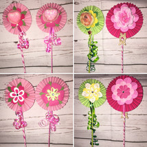 Handcrafted Decorated Flower Gift Valentine's Day Mother's Day, Housewarming, Bi - $7.00