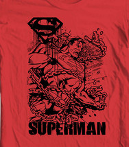 Superman Chains T shirt Metropolis red cotton Man Steel  tee comic DC SM1715 image 1