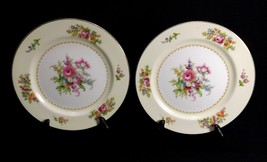 "Noritake Empire Set of 2 Salad Plates 7 5/8"" Cream & Floral Occupied Japan - $9.95"