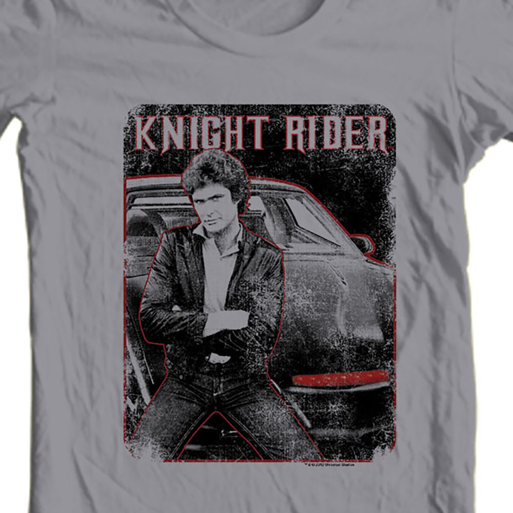 1980 s tv show nostalgic television 1970 s kitt car graphic tee shirt for sale online store gray