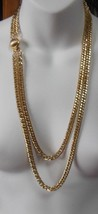 Unmarked Gold-tone Double Strand Chain Necklace W/Clip-In Clasp - $34.65